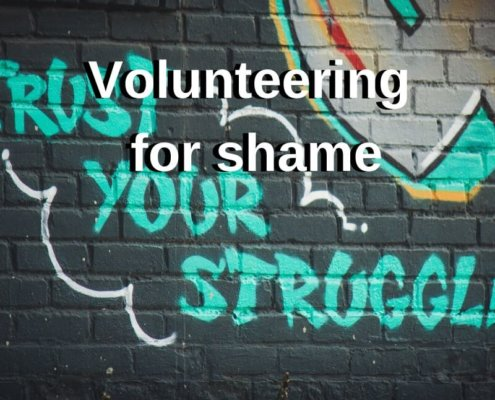 Volunteering for shame