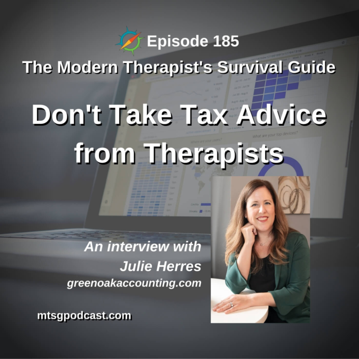 Don't Take Tax Advice from Therapists