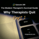 Why Therapists Quit Part 2