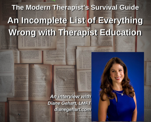 An Incomplete List of Everything Wrong with Therapist Education